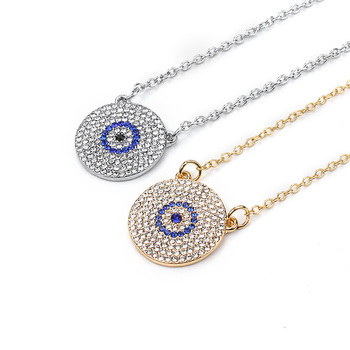 Micro Evil Eye Pendants Necklaces for Women Gold Silver Color Chain Necklace Women Girls Pendants Necklaces Good Luck Gifts