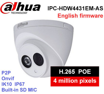 Dahua IPC-HDW4431EM-AS metal kabuk H2.65 Dahili MIC ile WDR IR 50 m 4MP IP Kamera POE DH-IPC-HDW4431EM-AS cctv Kamera
