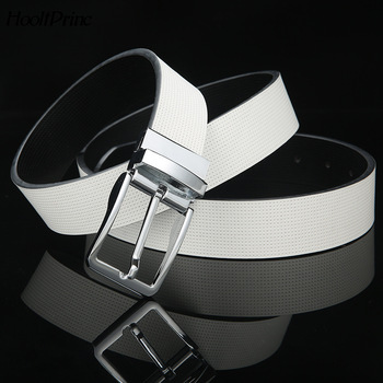HooltPrinc Genuine Leather Men Belt Fashion New designer Rotatable Pin Buckle belt Luxury For Men Brand Waistband Strap Men Belt